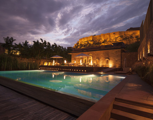 Raas Jodhpur - Exterior at night