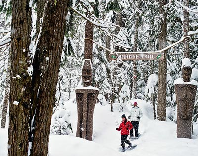 Medicine Trail Snowshoe Tour excursion