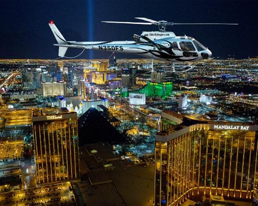 Las Vegas Night Strip Helicopter Flight excursion