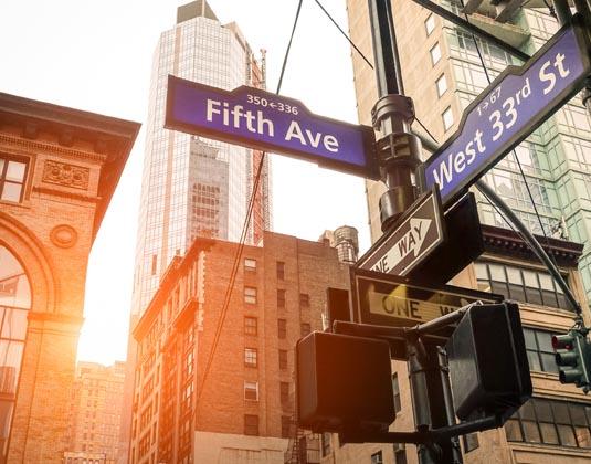 NY street sign
