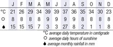 Muscat Climate Chart