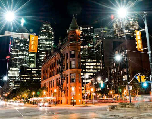 Gooderham building in the night, Toronto