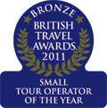 British Travel Awards 2011 - Bronze for the small package holiday company of the year