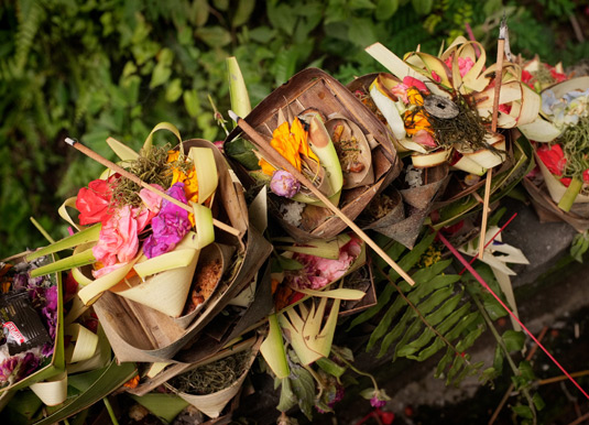 Balinese offerings at Ubud festival