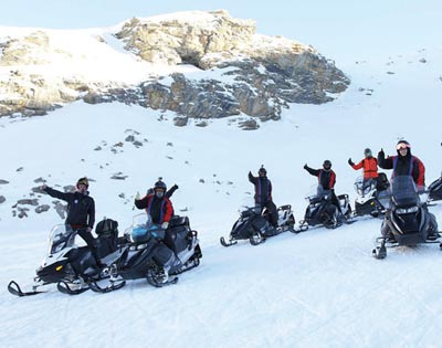 Snowmobile Tour (including lunch) excursion
