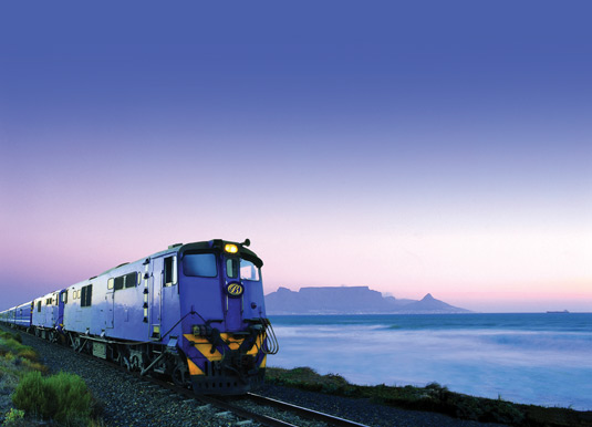 Blue Train with Table Mountain