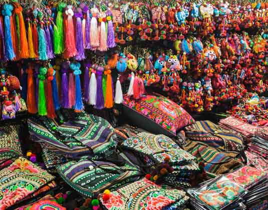 Fabric in the Market, Thailand
